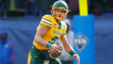 North Dakota State QB Trey Lance was mocked the Patriots by ESPN