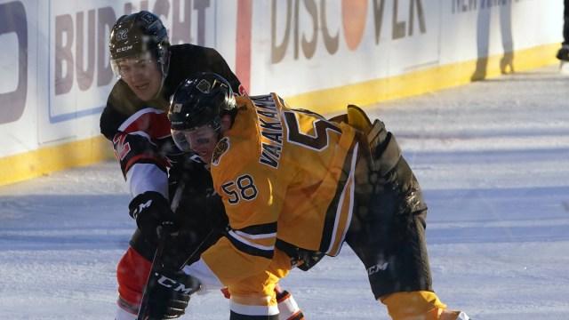 Boston Bruins defenseman Urho Vaakanainen