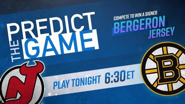 Predict The Game Bruins-Devils