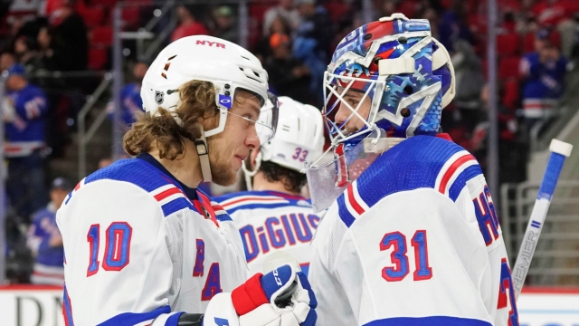 New York Rangers goalies Igor Shesterkin, winger Artemi Panarin