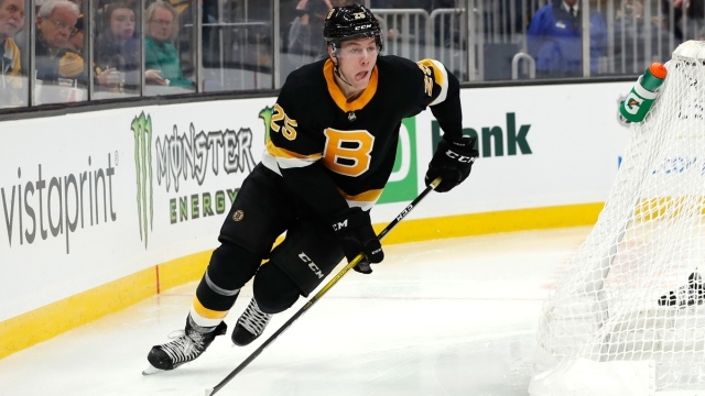 Boston Bruins defenseman Brandon Carlo