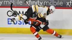 Philadelphia Flyers right wing Nicolas Aube-Kube, Boston Bruins defenseman Jakub Zboril