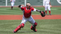 Boston Red Sox catcher Christian Vazquez