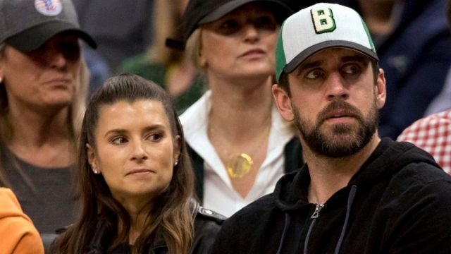Retired NASCAR driver Danica Patrick and Green Bay Packers quarterback Aaron Rodgers