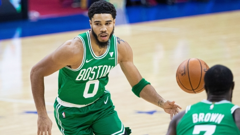 Boston Celtics forward Jayson Tatum, Jaylen Brown
