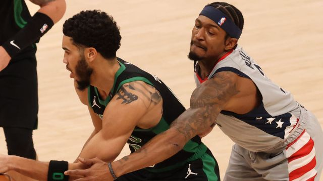 Boston Celtics forward Jayson Tatum and Washington Wizards guard Bradley Beal