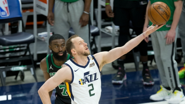 Boston Celtics forward Jaylen Brown, Utah Jazz forward Joe Ingles