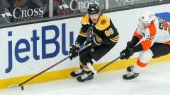 Boston Bruins defenseman Kevan Miller, Philadelphia Flyers winger James van Riemsdyk