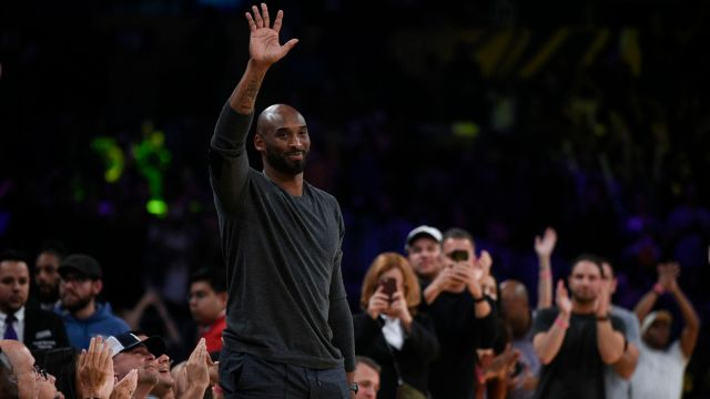 Former Lakers player Kobe Bryant