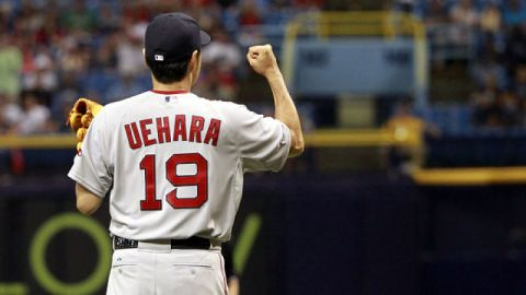 Former Boston Red Sox pitcher Koji Uehara