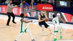 Dallas Mavericks guard Luka Doncic, Boston Celtics guard Kemba Walker