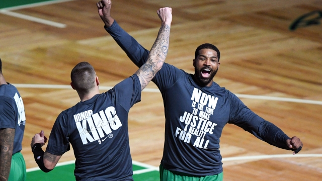 Boston Celtics forward Tristan Thompson, Daniel Theis