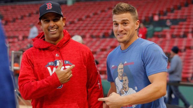 Boston Red Sox manager Alex Cora, utility man Kiké Hernández