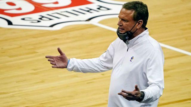Kansas head coach Bill Self