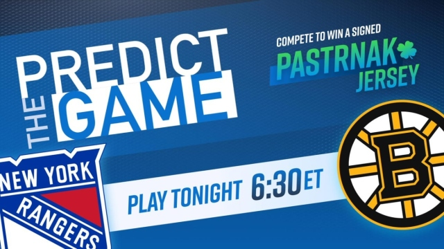 """Bruins-Rangers """"Predict the Game"""""""
