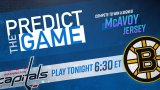 Bruins-Capitals Predict The Game
