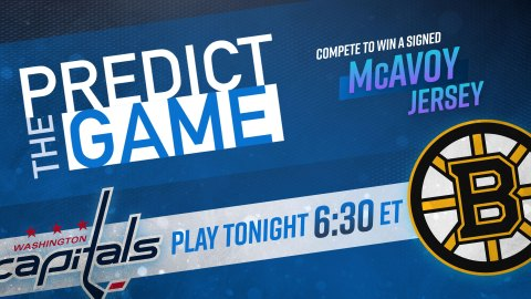 Bruins-Capitals Predict The Game