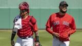 Boston Red Sox catcher Christian Vazquez and pitcher Eduardo Rodriguez