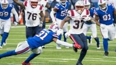 Patriots running back Damien Harris