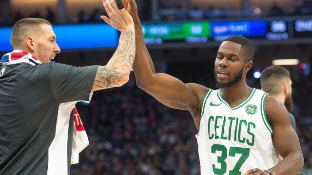 Boston Celtics center Daniel Theis, forward Semi Ojeleye