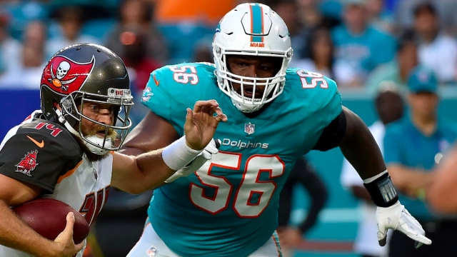 Miami Dolphins defensive tackle Davon Godchaux