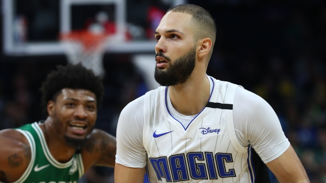 Boston Celtics guard Marcus Smart, Orlando Magic guard Evan Fournier