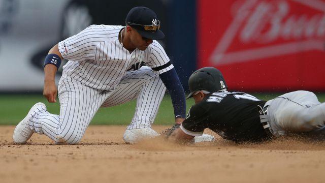 New York Yankees shortstop Gleyber Torres and Chicago White Sox third baseman Yoan Moncada