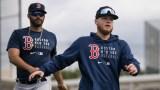 Boston Red Sox designated hitter J.D. Martinez and outfielder Alex Verdugo