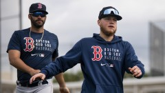 Boston Red Sox designated hitter J.D. Martinez and outfielder Alex Verdugo