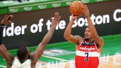 Boston Celtics guard Jaylen Brown and Washington Wizards guard Bradley Beal