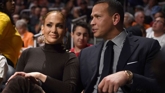 Former New York Yankees baseball player Alex Rodriguez, Singer Jennifer Lopez