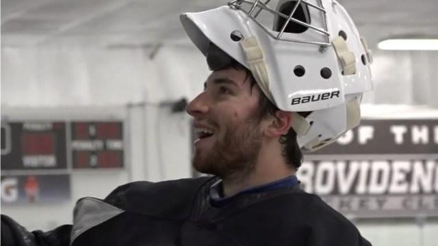Boston Bruins goalie prospect Jeremy Swayman