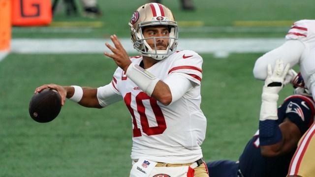 49ers quarterback Jimmy Garoppolo vs. Patriots