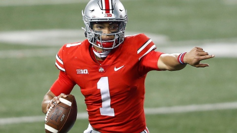 Patriots trade up for Ohio State QB Justin Fields