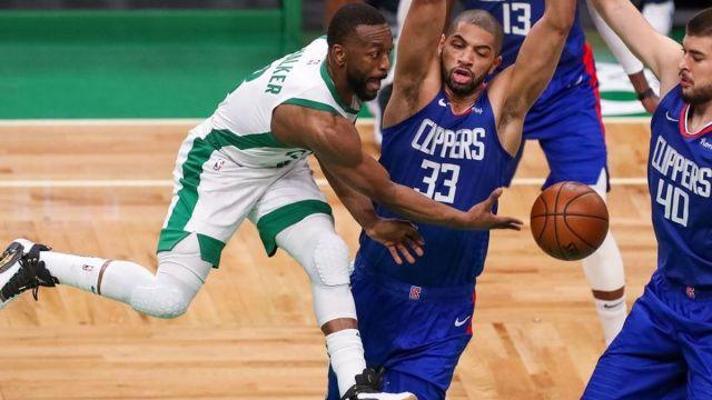 Boston Celtics guard Kemba Walker, Clippers forward Nicolas Batum