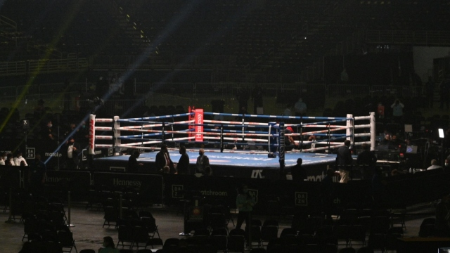 General view of a boxing ring