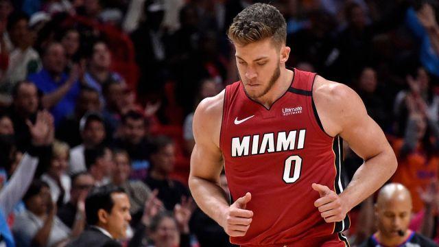 Miami Heat forward Meyers Leonard