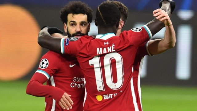 Liverpool forwards Mohamed Salah, Sadio Mane