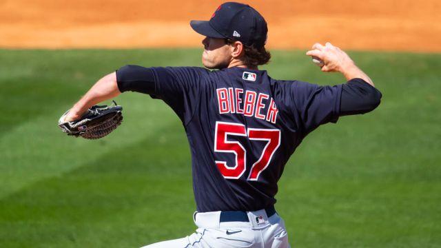 Cleveland Indians pitcher Shane Bieber