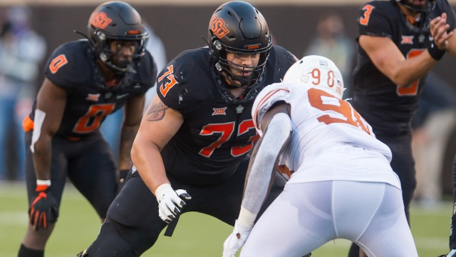 Oklahoma State offensive tackle Teven Jenkins