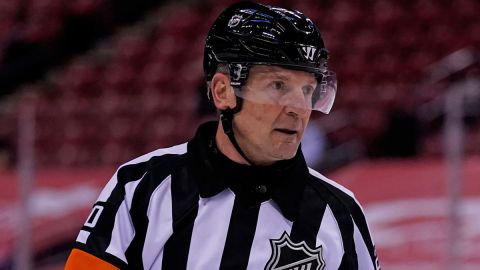NHL referee Tim Peel