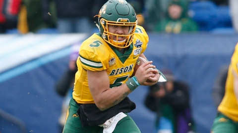 North Dakota State Bison quarterback Trey Lance