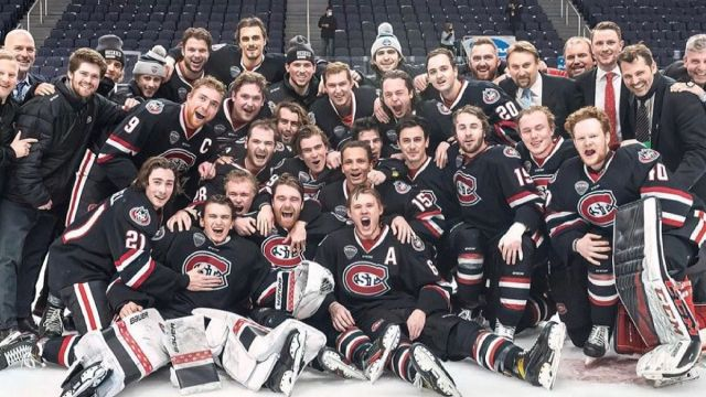 St. Cloud State Hockey Wins the North East Regional Final