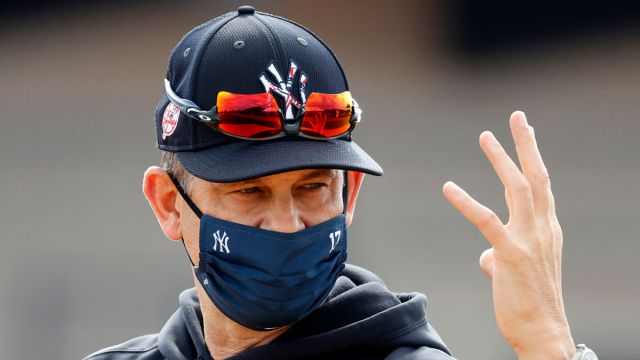 New York Yankees manager Aaron Boone.