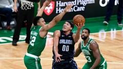Orlando Magic forward Aaron Gordon, Boston Celtics forward Grant Williams, Tristan Thompson