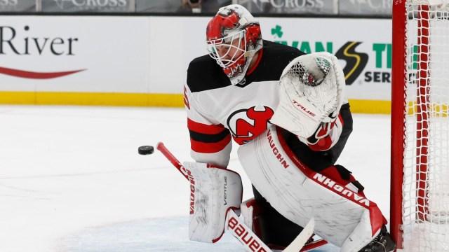 New Jersey Devils goaltender MacKenzie Blackwood