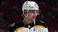 Boston Bruins defenseman Brandon Carlo