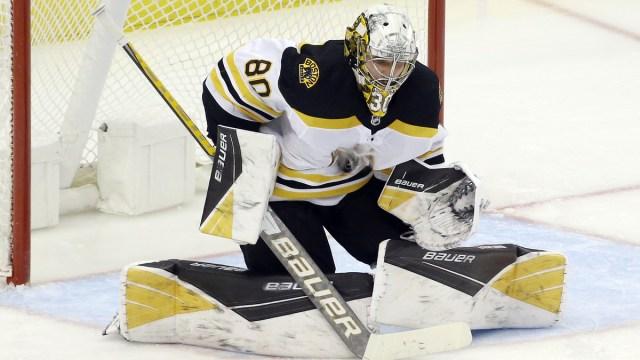 Boston Bruins goaltender Daniel Vladar