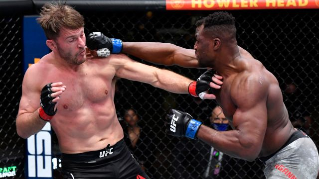 Francis UFC fighters Ngannou and Stipe Miocic