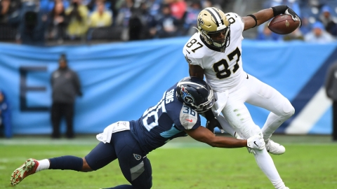 New Orleans Saints tight end Jared Cook